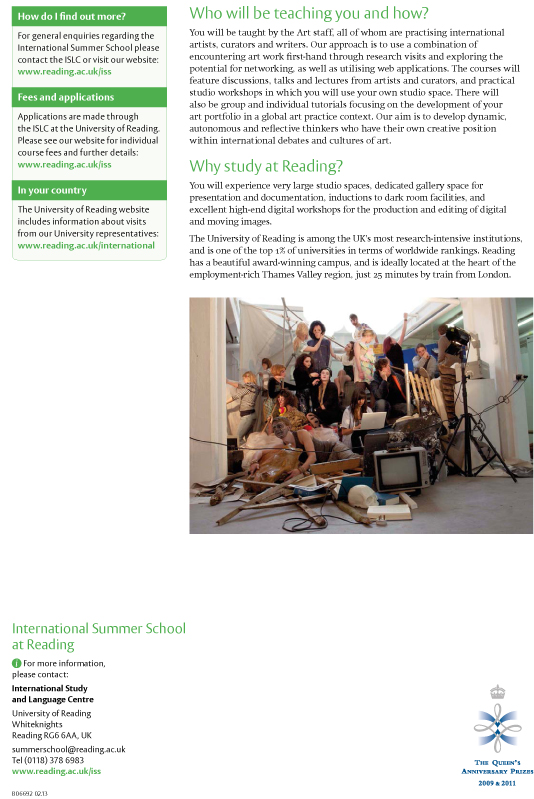 International Summer School at Reading. An Introduction to Globa
